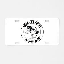 Desert Frog - Never Forgive Aluminum License Plate