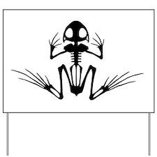 Desert Frog (3) Yard Sign