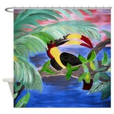 Toucan in the Rainforest Shower Curtain