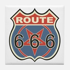 Route 666 Tile Coaster