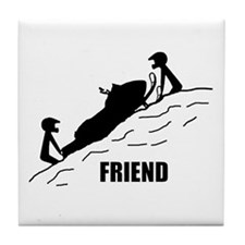 Friend / Best Friend Tile Coaster