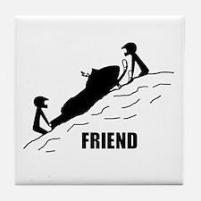 Friend / Best Friend Tile Coaster