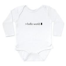 Cool Hello world Long Sleeve Infant Bodysuit