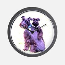 Black Schnauzer Puppy Love Wall Clock