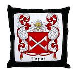 Lopot Coat of Arms Throw Pillow