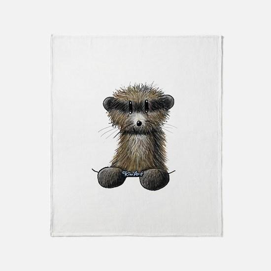 Ferret Caricature Throw Blanket