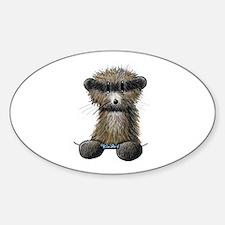 Ferret Caricature Sticker (Oval)