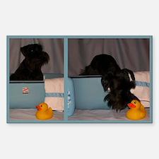 Black Mini Schnauzer Bath Decal