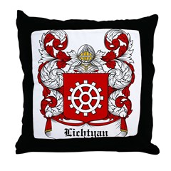 Lichtyan Coat of Arms Throw Pillow