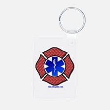 Maltese Cross Star of Life Keychains