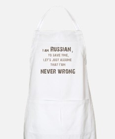 Russians Never Wrong! Apron