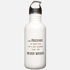Russians Never Wrong! Sports Water Bottle