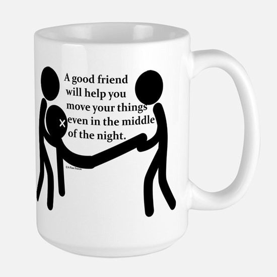 In the middle of the night. Large Mug