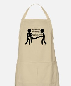 In the middle of the night. Apron