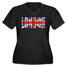 Funny London england Women's Plus Size V-Neck Dark T-Shirt