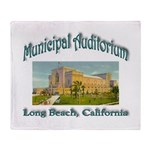 Long Beach Municipal Auditorium Throw Blanket