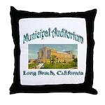 Long Beach Municipal Auditorium Throw Pillow