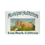 Long Beach Municipal Auditorium Rectangle Magnet
