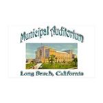 Long Beach Municipal Auditorium 35x21 Wall Decal