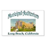 Long Beach Municipal Aud Sticker (Rectangle 10 pk)