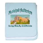 Long Beach Municipal Auditorium baby blanket
