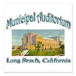 Long Beach Municipal Aud Square Car Magnet 3