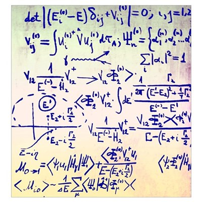 Particle physics equations Poster
