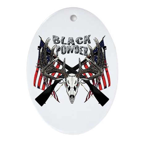 Black powder buck Ornament (Oval)