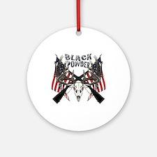 Black powder buck Ornament (Round)