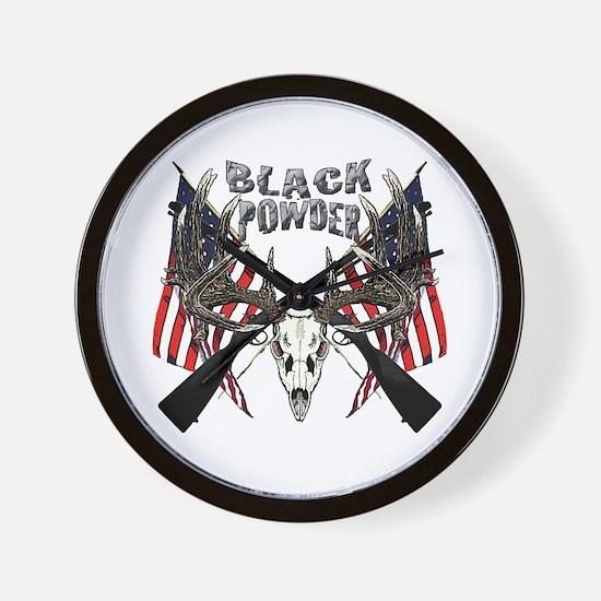 Black powder buck Wall Clock