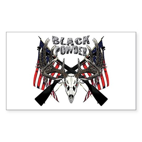 Black powder buck Sticker (Rectangle)