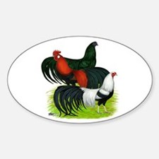 Long Tailed Roosters Sticker (Oval)