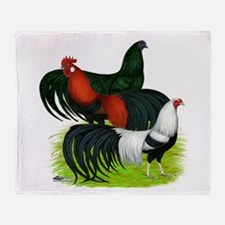 Long Tailed Roosters Throw Blanket