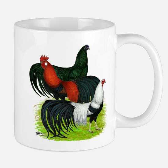 Long Tailed Roosters Mug
