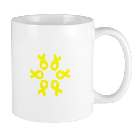 Bladder Cancer Awareness Yellow Ribbons Mug