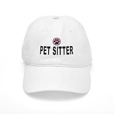 Pet Sitter Pink Stripes Baseball Cap