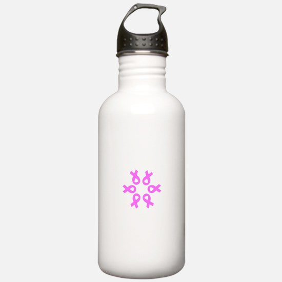 Pink Ribbons Breast Cancer Pugilist Sports Water Bottle