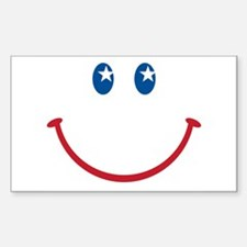 Smiley Face USA: Rectangle Decal