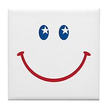 Smiley Face USA: Tile Coaster