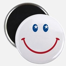 """Smiley Face USA: 2.25"""" Magnet (100 pack)"""