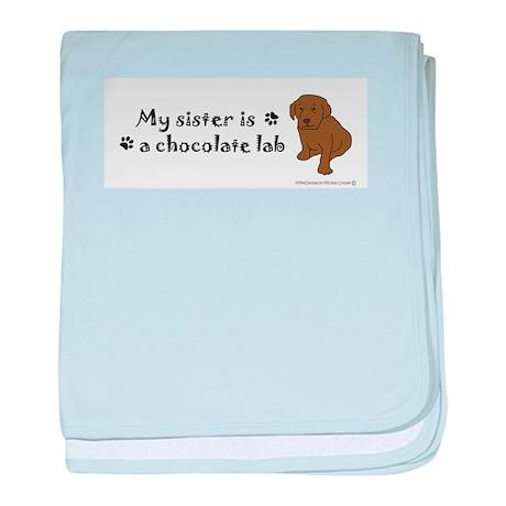 chocolate lab baby blanket