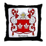 Krupek Coat of Arms Throw Pillow