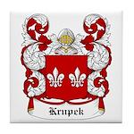 Krupek Coat of Arms Tile Coaster