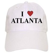 I Love Atlanta Baseball Baseball Cap