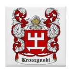 Kroszynski Coat of Arms Tile Coaster