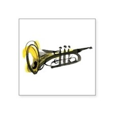 "trumpet Square Sticker 3"" x 3"""