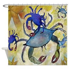 Sandy Crab Shower Curtain
