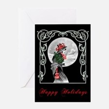 Yule Maiden Christmas Greeting Card