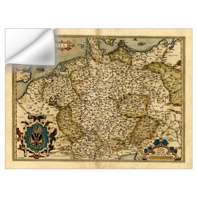 Ortelius's map of Germany, 1570 Wall Decal