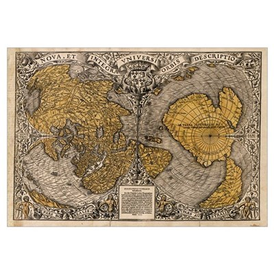 Oronce Fine's world map, 1531 Poster